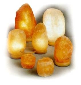 Salzkristall-Lampen